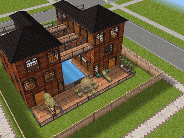 House 29 Full View (back) #sims #simsfreeplay #simshousedesign