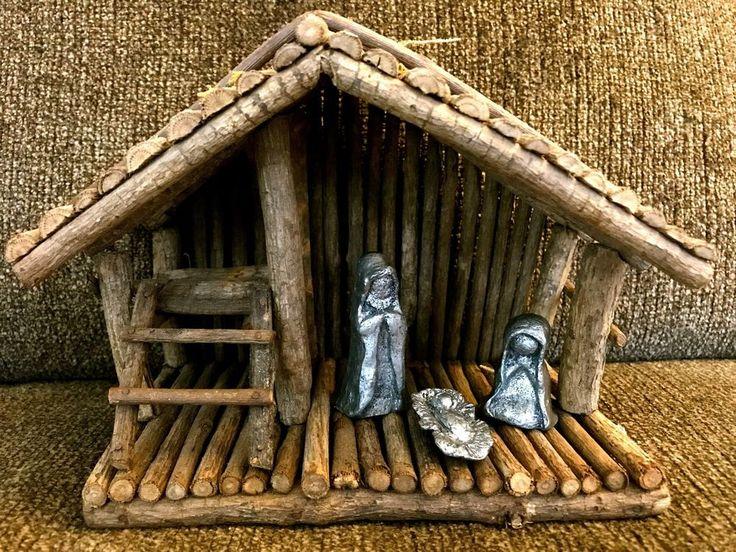 HUDSON PEWTER NATIVITY SET #044 Joseph, Mary, baby Jesus VINTAGE With Manger | eBay