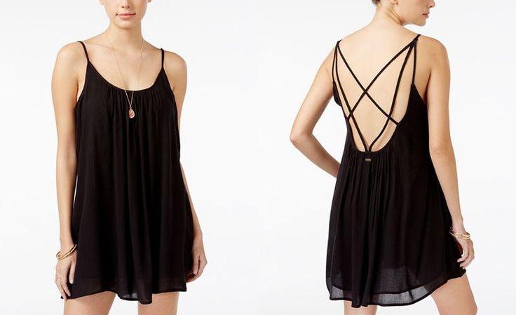 Roxy Juniors' Windy Fly Away Strappy Trapeze Sundress - Juniors Dresses - Macy's