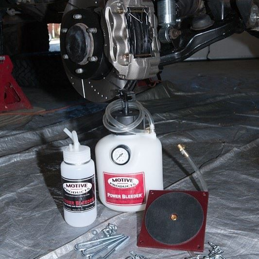 This is a cool little product if you need to bleed your brakes without help. This is the Motive Products power bleeder it pushes the brake fluid through the system. We used it after we did one of our favorite upgrades the @lc_engineering big brake kit for 1st Gen Tacoma.  #stopfast #cool #iworks #4x4 #4wd #4wdtoyotaowner #letsgo http://ift.tt/2hKWHiL