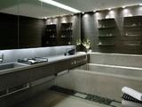 Thin Shelves in Bathroom