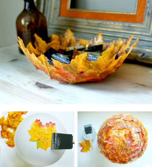DIY Autumn Leaf Bowls | Leaf bowls, Leaves and The mod