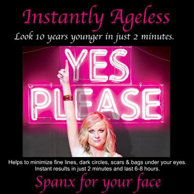 * INSTANLY AGELESS - Look 10 years younger in only 2 minutes ! Helps to minimize fine lines, dark circles, scars & bags under your eyes. Instant results in just 2 minutes and last 6 - 8 hours ! See the video: Click this PIN Open !