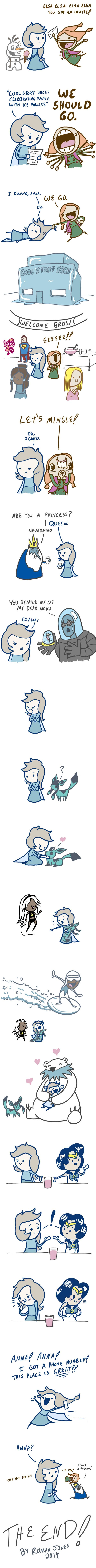 Frozen Comics - Ice Party - this is really cute