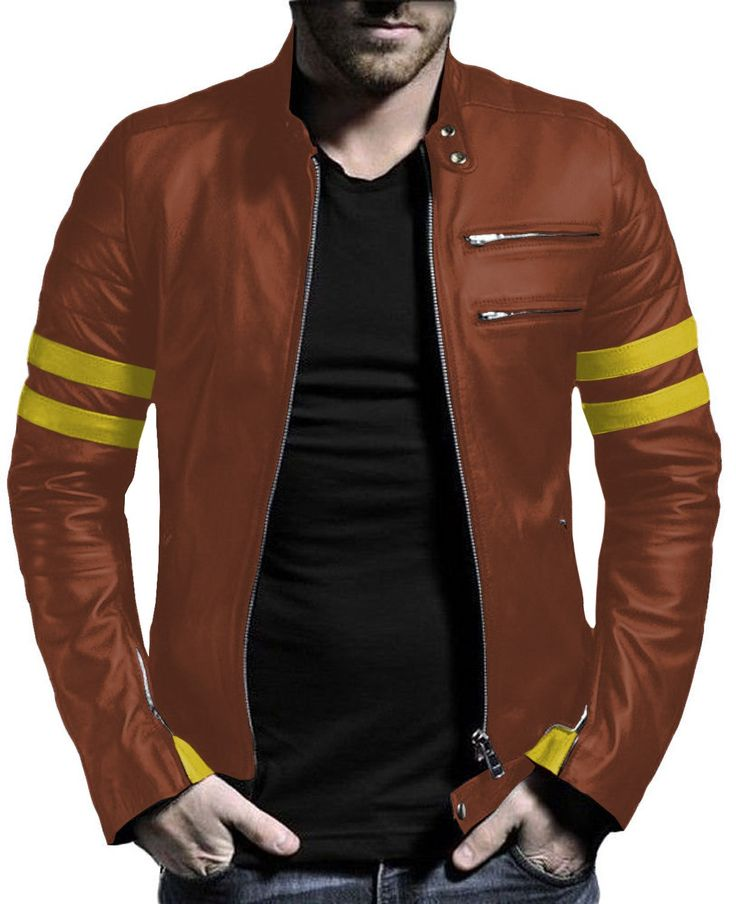 Laverapelle Men's Cognic TAN Genuine Lambskin Leather Jacket - 1510535 - 5XL