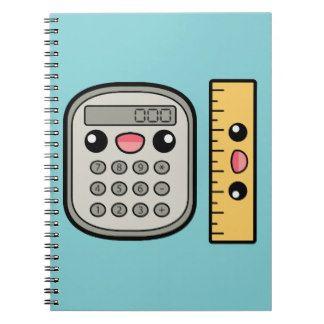 Calculadora y regla lindas libros de apuntes