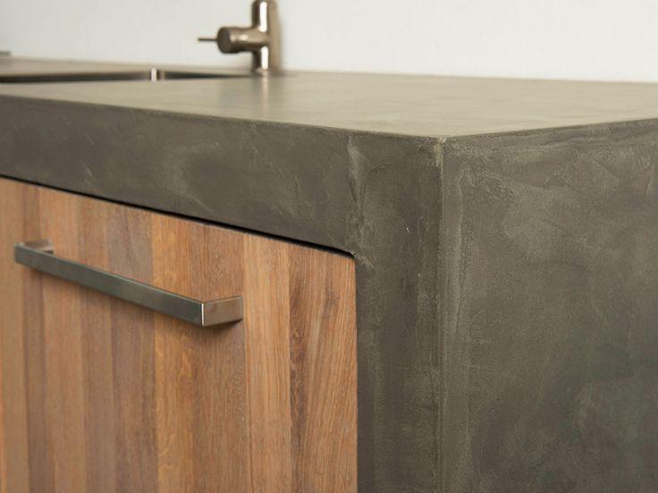 Eiken Keuken Met Betonnen Blad : greywash eiken met beton cire keuken Pinterest Met