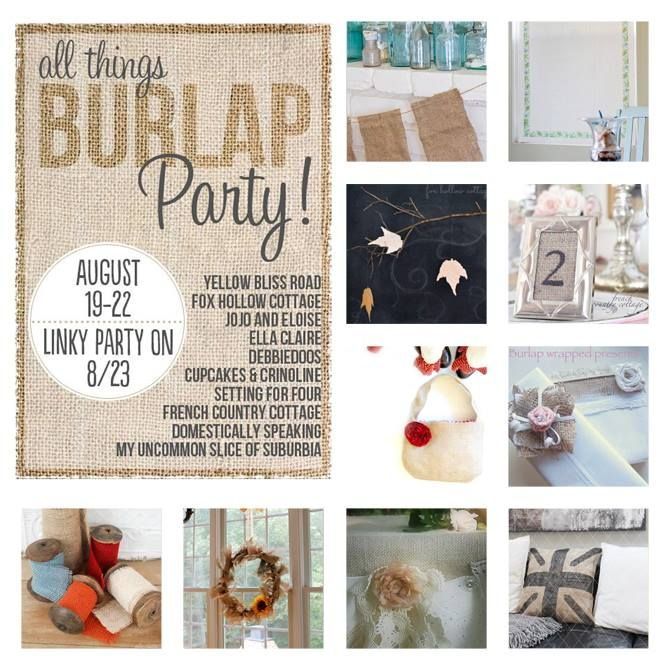 All Things Burlap Party Recap and Linky Party - Cupcakes and Crinoline