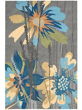 Grey South Beach Jazzy Indoor/Outdoor Rug   Vivid Splashes Of Color Bring  To Life