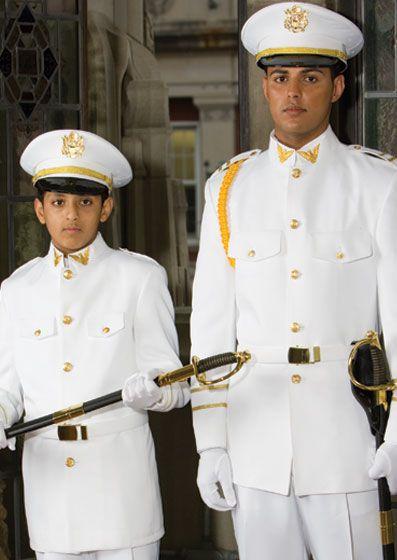 White Cadet Military Uniform