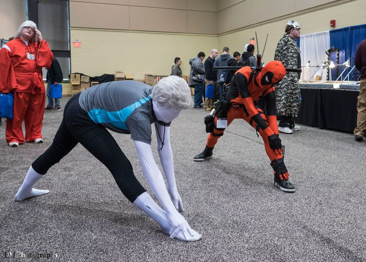 Wii Fit Trainer cosplay and Deadpool cosplay - Nintendo - Marvel Entertainment - Wii Fit - Deadpool series - Super Smash Bros. - fan art - Nintendo cosplay - Marvel cosplay - cosplay