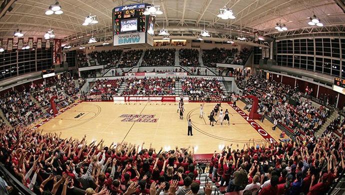 Santa Clara University Broncos Men's Basketball @ Leavey Center (Santa Clara, CA) #gobroncos #scu #basketball #college