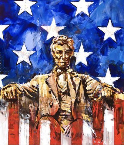 Lincoln & Flag