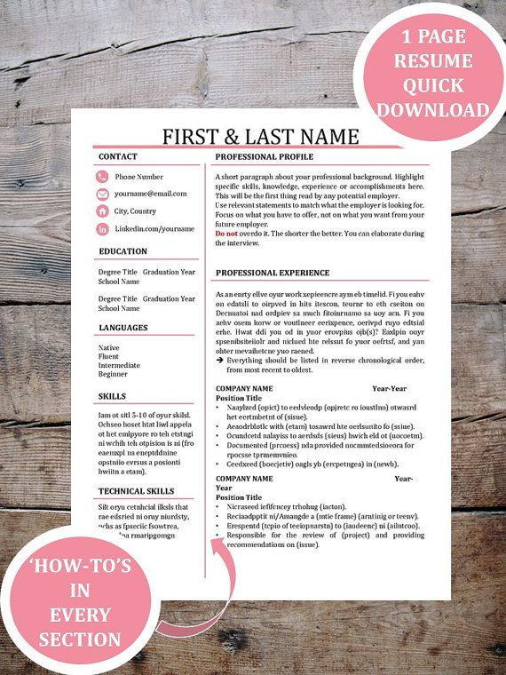 24 best Resume images on Pinterest Resume templates, Resume - sample sale order template