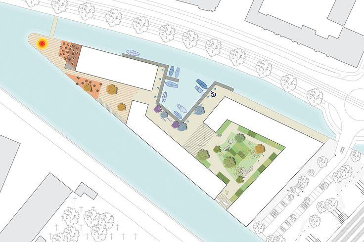 Visuals - Punt de Sniep - Projects - KCAP  semi public couryard