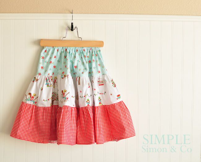 Another Good One For Kieryn to try out~Simple Simon & Company: Easy Tiered Skirt. A Tutorial.