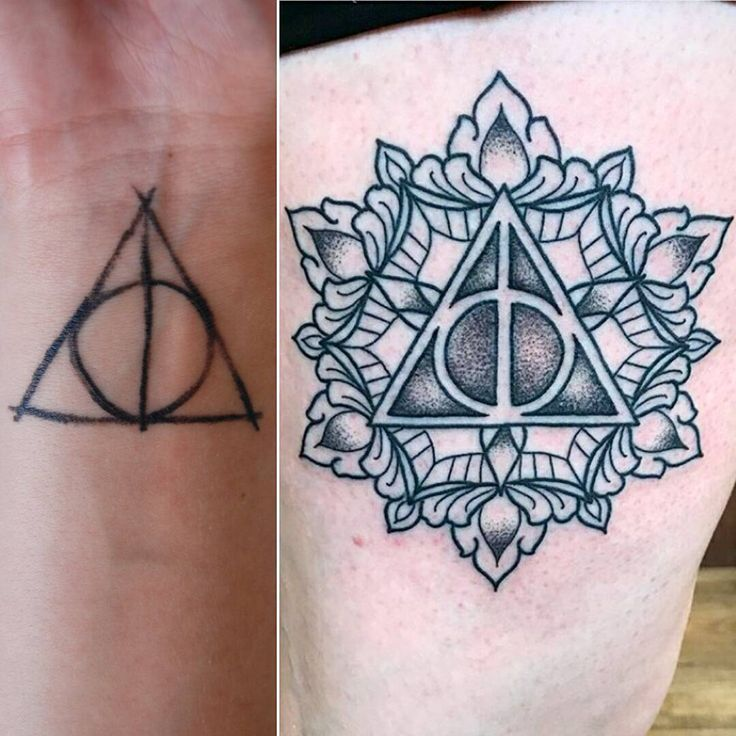 Feelin' the deathly hallows with these two tattoos by our fellas Luis Lopez and Daniel Dozier whether you're a minimalist or fancy as fuck, we've got you. Both these amazing artists are up for Best Of Humboldt 2017 with two days left to vote! We're also up for Best Jewelry Store if you are so inclined. Thanks for all your ongoing support, Humboldt! #primaldecor #makingbodiesbeautiful #bodiescomeinvarieties #somethingforeveryone #safetattoopractice #licensedtattooartist #tattooedandgorgeou