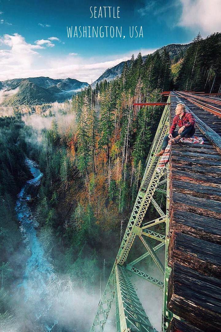 Seattle In Washington Usa Washington Travel Washington Things To Do Landscape