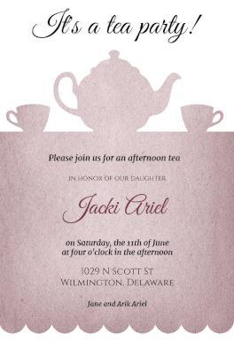 Tea Party - Free Printable Bridal Shower Invitation Template | Greetings Island
