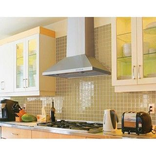 @Overstock - Update any kitchen with this stainless steel wall mounted range hood. Available with a duct or ductless, this range is controlled by three-speed push buttons. Light the area with the two LED lights and choose either low, medium, or high exhaust. http://www.overstock.com/Home-Garden/Wall-mounted-30-inch-Range-Hood/4348470/product.html?CID=214117 $389.99