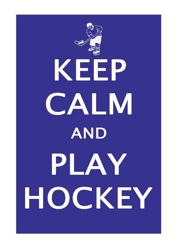 Keep Calm and Play Hockey from vintagefineart on etsy