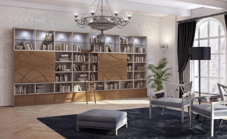 作り付けの本棚、戸棚 - Mazzaliの巨大棚
