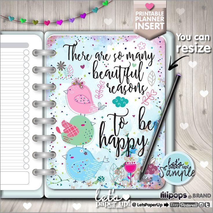 60%OFF - Planner Insert, Printable Planner Insert, Planner Divider, Planner Quotes, Planner Dashboard, Kawaii Planner, Divider, Happy