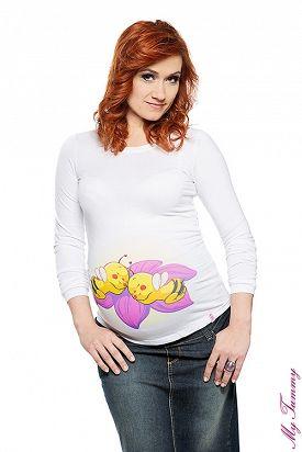 """Těhotenské tričko """"Dvě včeličky"""""""