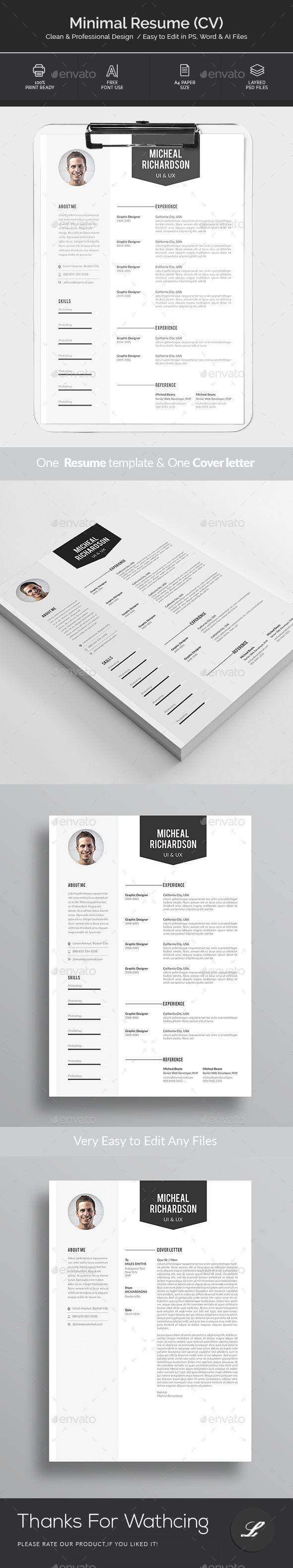 Resume #clean cv #clean resume  • Download here → https://graphicriver.net/item/resume/21377852?ref=pxcr