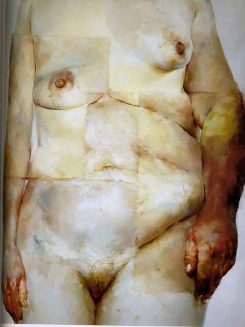 Jenny Saville, Hybrid, 1997, Oil on canvas, 9'x7'