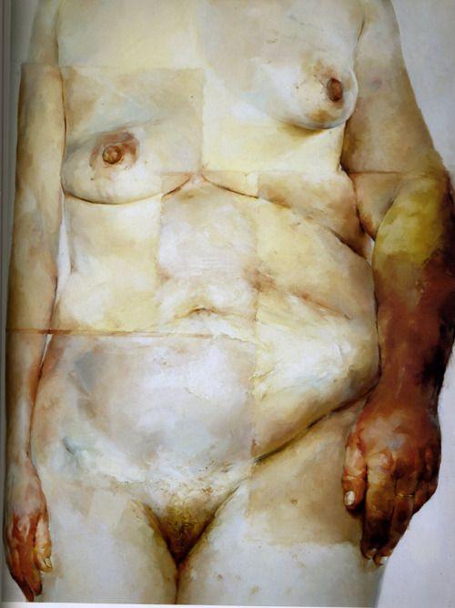 Jenny Saville, Hybrid, 1997, Oil on canvas, 9'x7'
