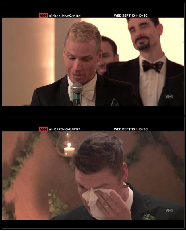 """You were like the the little brother I never had"""" Brian Littrell to Nick Carter at Nick's wedding"""