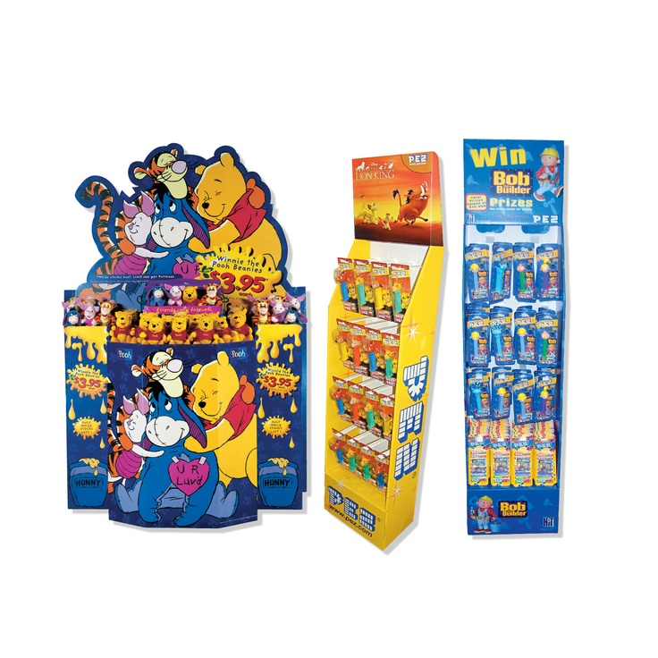 Pre - pack retail displays work well to foster support from retailers. Merchandise distributors often sell in stock in 'pre - packed' displays. Highly visual floor stands help retailers to sell product through to consumers quicker. Pre - packs also help distributors to claim valuable retail real estate too.