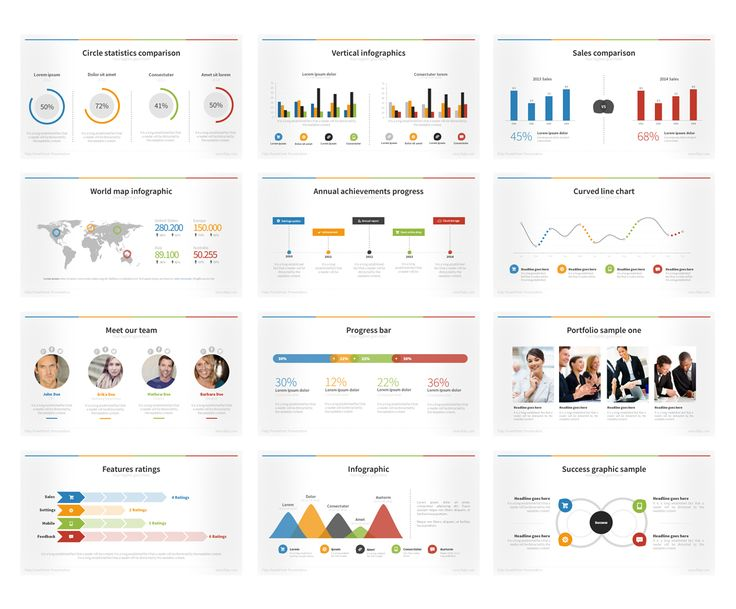Flaty PowerPoint Template by Creative Fox on Creative Market