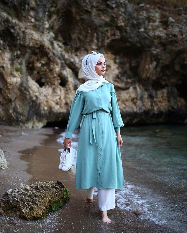Image May Contain 1 Person Outdoor Cute Fashion Fashion Hijab Fashion