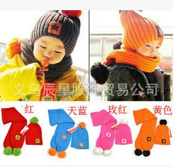 >> Click to Buy << Warm Children Wool 5-Star Caps Match Scarfs Colorful Hats Sets Winter Baby Boys Girls Kintted Wool Beanie,baby costumes crochet #Affiliate