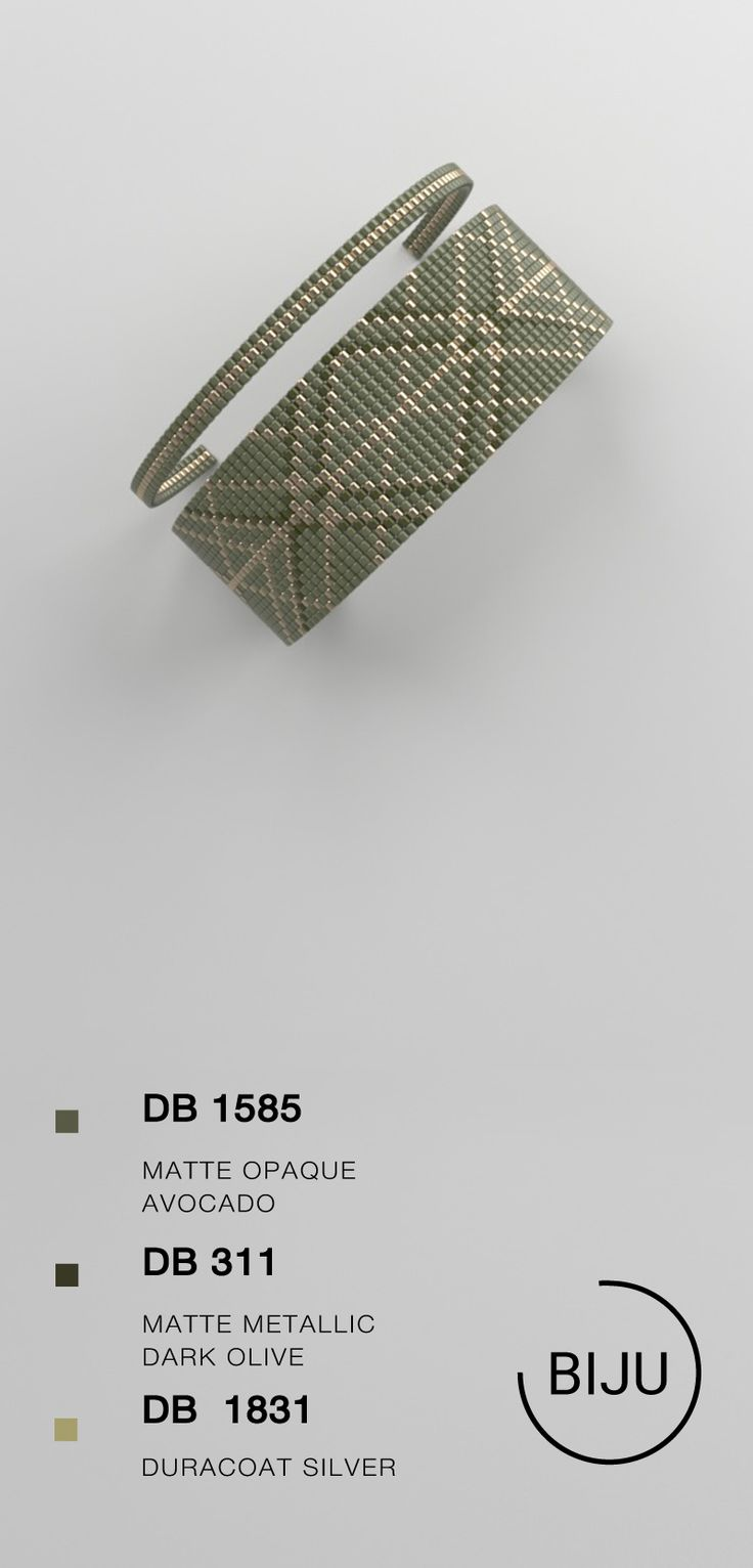 US $ 4.72 Perlen Webstuhl Muster, LOOM Armband Muster, Miyuki Muster, Quadratstich …   – BIJU patterns