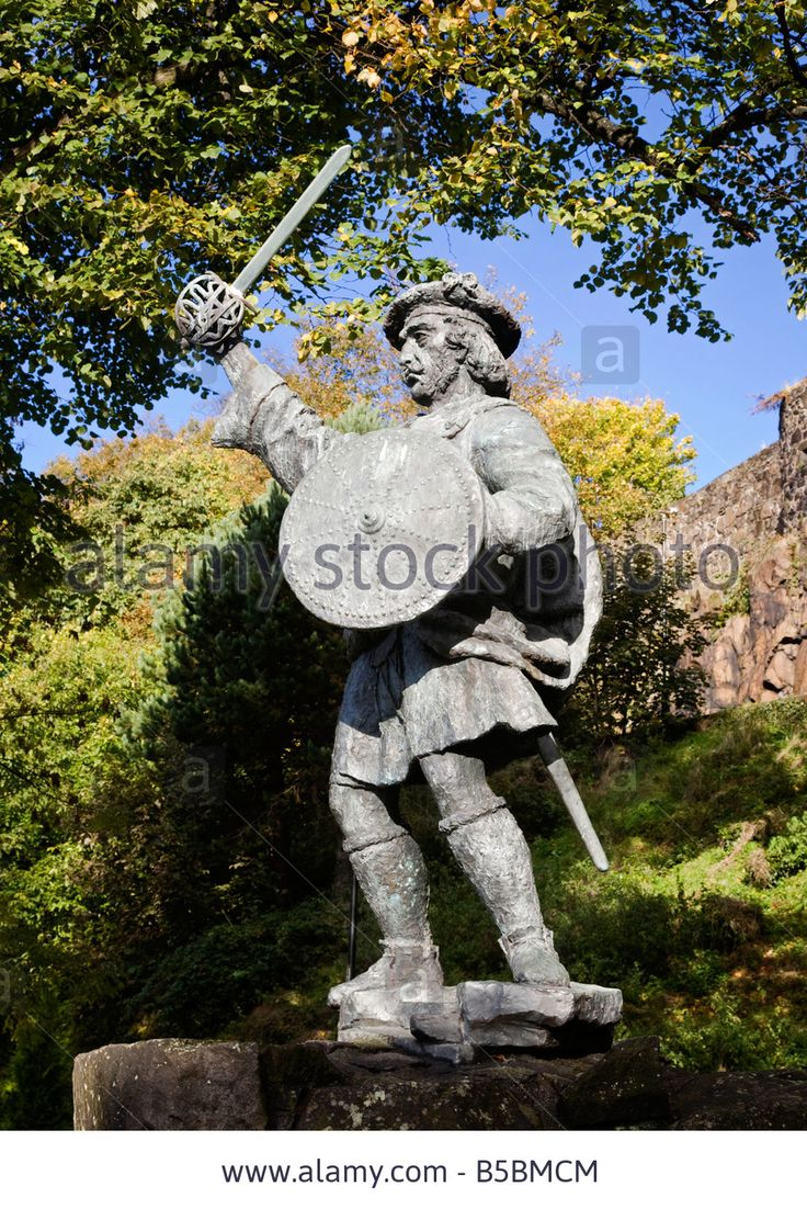 Statue of Rob Roy MacGregor, City of Stirling, Scotland. Stock Photo