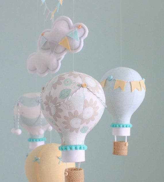 Baby hanging mobile, balloons