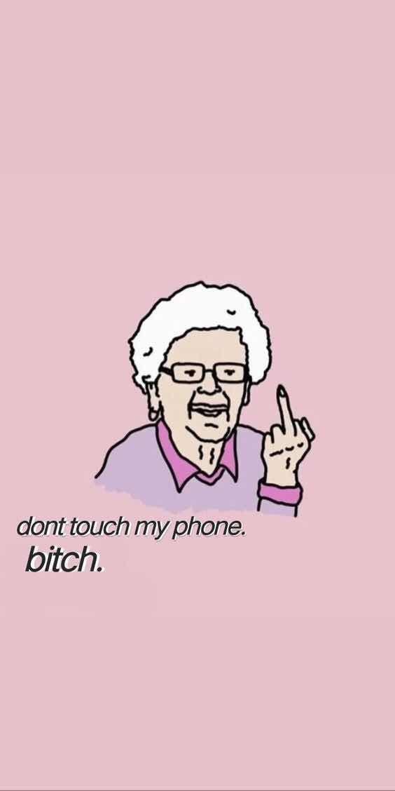 Hintergrundbilder für iPhone und Android: Cooles Oma-Hintergrundbild für iPhon…