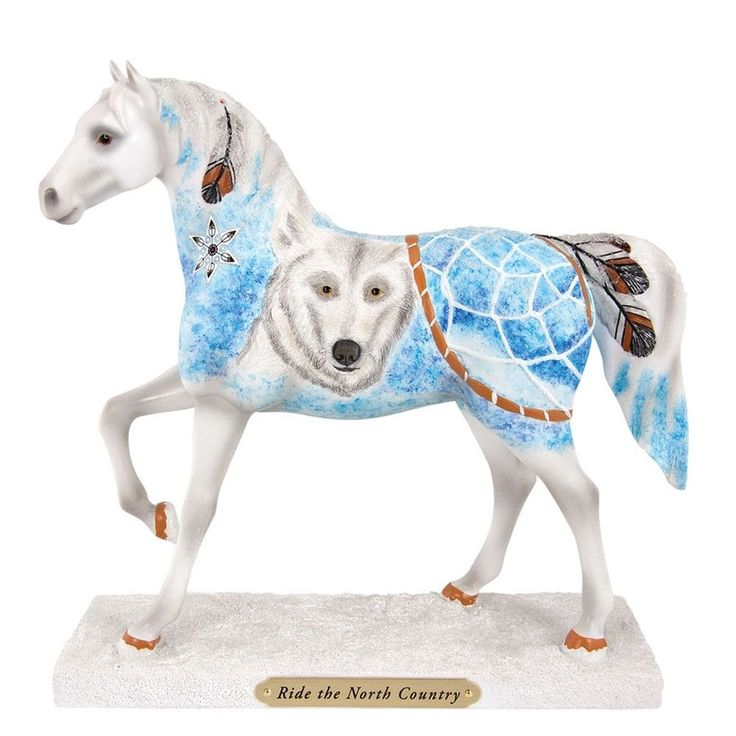 Trail of Painted Ponies Ride the North Figurine