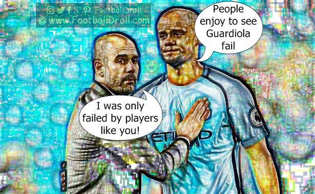 Vincent Kompany Believes that People Enjoy to See Guardiola Fail #Kompany #Guardiola #ManCity #ManUnited #Chelsea #EPL #MCICRY #Pogba #Ibrahimovic #Mkhitaryan #ManCity #Arsenal #Liverpool #Neymar #Messi #Ronaldo #FCBarcelona #Jokes #Comic #Laughter #Laugh #Football #FootballDroll #Funny #CR7 #RealMadrid