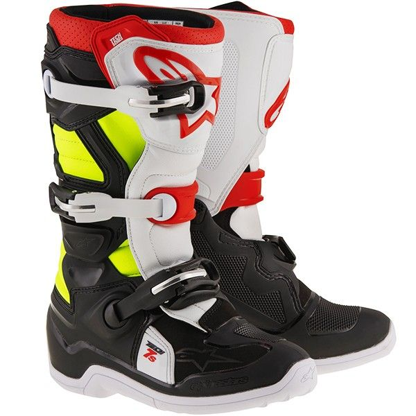 Alpinestars 2017 TECH 7S MX Boots Black / Red / Fluo Yellow - V1mx