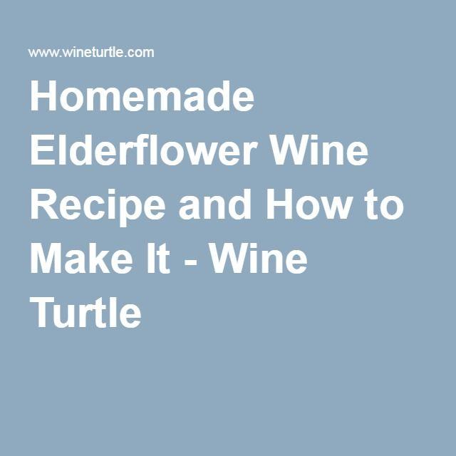 Homemade Elderflower Wine Recipe and How to Make It - Wine Turtle