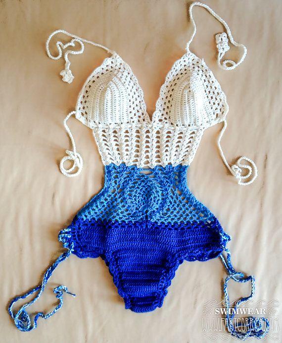 Crochet Swimsuit OnePiece Crochet Lace by Crochetbikinisbyfabi