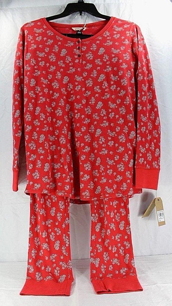 Woolrich 2 Piece Huckleberry Thermal Pajamas Women's Regular Fit NWT 2XL #Woolrich #PajamaSets #Everyday