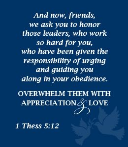 Pastor Appreciation Scriptures