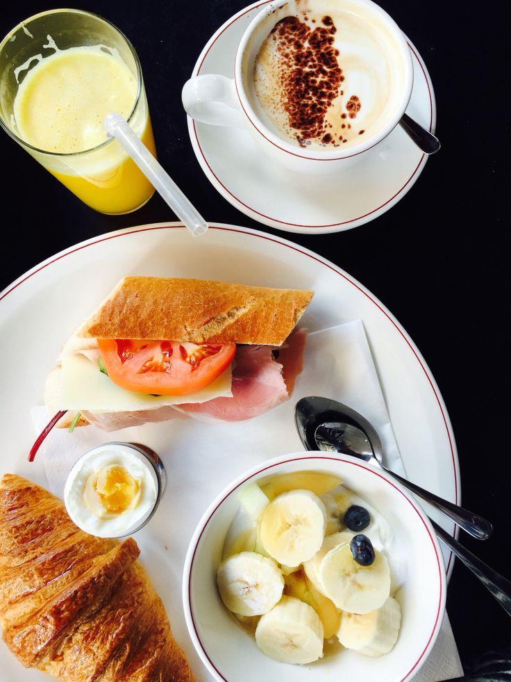 Breakfast at café Saturnus in Stockholm