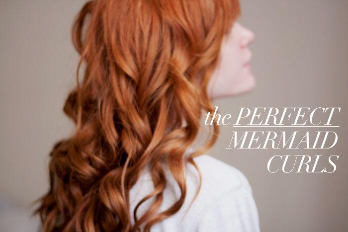 Hair Tutorial: The Perfect Mermaid Curls: Perfect Mermaid, Hairstyles, Red Hair, Hair Tutorial, Mermaid Curls, Hair Style, Redhead, Redhair, Hair Color