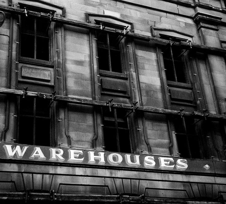 Warehouse facade, James Watt Street, Glasgow